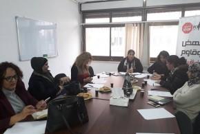 اللجنة المصغرة لحملة قانون حماية الاسرة من العنف تجتمع لوضع أنشطة الحملة